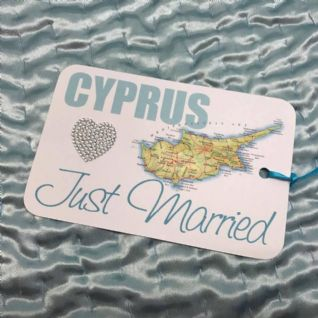 CYPRUS Just Married Swing Tag